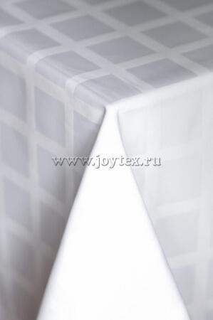 001 Ткань Журавинка 04С47-КВгл+ГОМ т.р.1 цвет 010101 белый, ширина 155см