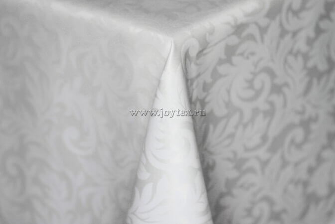 201 Ткань Ричард 08С6-КВотб+ГОМ т.р. 1828 010101 белый, ширина 305 см