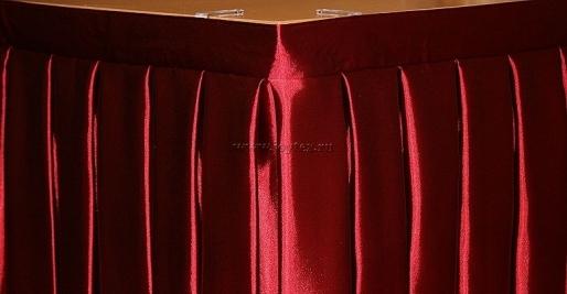 "Фуршетная юбка ""Ярко-бордовый"" коллекция ""Атлас-сатин"""