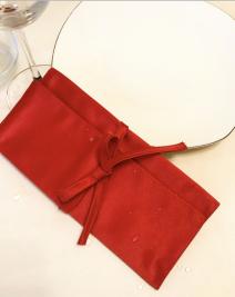 Куверт-зефир двойной Ричард рис 1346/191663 Красный