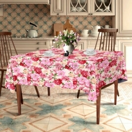 "Скатерть ""Розовый сад 18854"" коллекция ""Прованс"" 150х220"