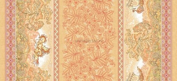 """Ткань Рогожка """"Русские сказки"""" рис. 18994"""