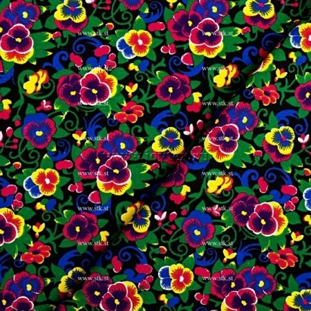 "Ткань Фланель ""Цветы"" грунт ширина 150 арт. P1503 3176/1"